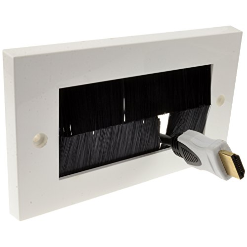 Schwarz Pinsel Unterputzdose Für Kabel Exit/Wall Ausgang UK Zweifach Fach Weiß [White Double]