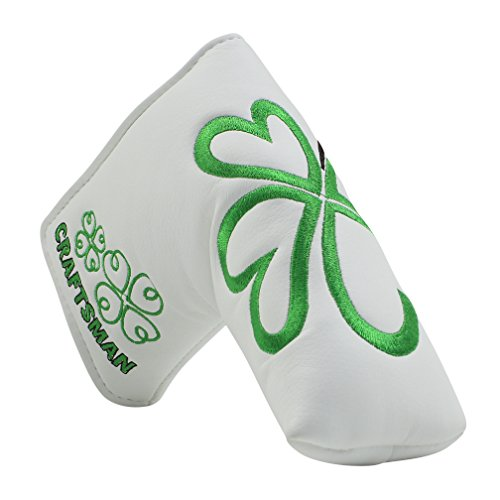 CRAFTSMAN GOLF Green Lucky Clover Headcover Putter Cover for Scotty Cameron Taylormade Odyssey Blade