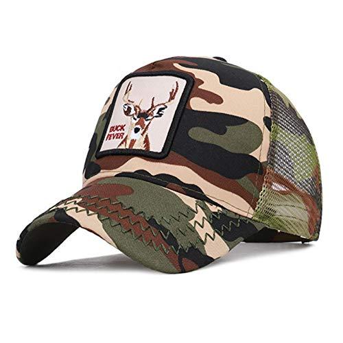 QIEZI Sombrero de Red de béisbol Gorra Informal Vintage de...