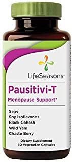 Life Seasons - Pausitivi-T - Menopause Relief Supplement - Natural Support for Hot Flashes, Hormone Balance, Night Sweats and Mood Swings – Contains Black Cohosh and Soy Isoflavones - (60 Capsules)