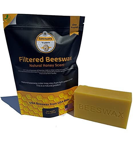 Pure Beeswax 1lb Block Perfect for Crafting, Candle Making, and More!