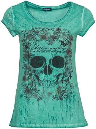 Blue Monkey Camiseta de cuello redondo para mujer