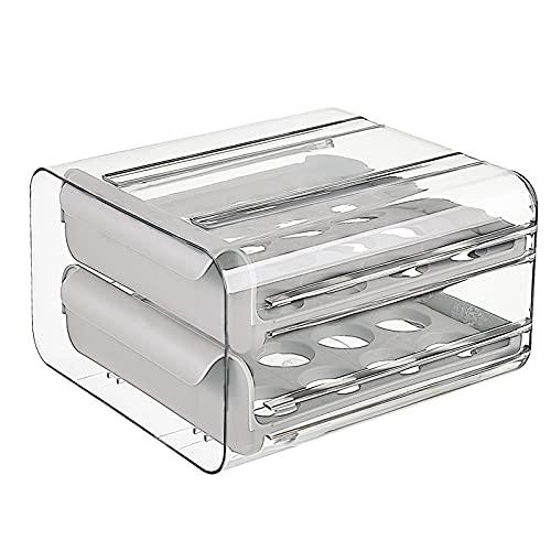 LTXDJ - Cajón grande de capacidad para huevos, diseño de huevo fresco, refrigerador, caja de varios pollos, huevos, recipiente de almacenamiento con lateral de viento