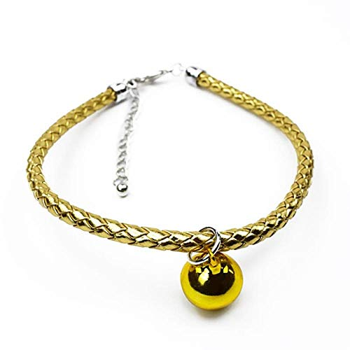 PetMeows 1 piece of pet collar and hand-woven dog collar, cat collar, pet necklace, clothing accessories, pet supplies-L