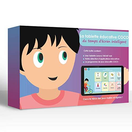 dynseo Tablet Educativa Samsung Galaxy Tab A 10.1Pulgadas + 1año de suscripción en los Juegos éducatifs Coco + Apps Relajación y Ocio Incluye Funda