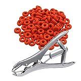 Cola alicates de acero inoxidable clip cola anillo de goma Alicates para ganado porcino campo de las ovejas Animal