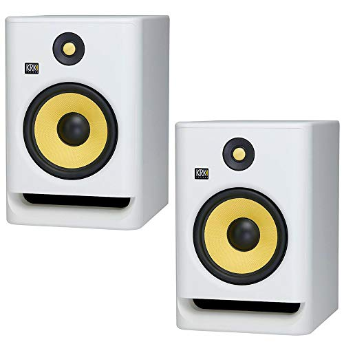"KRK RP8 Rokit G4 Professional Bi-Amp 8"" Powered Studio Monitors, White Noise - PAIR"