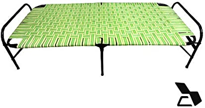 Silverwud Designer Bed | a Cot Bed | Relaxing Equipment | Binded with Rope | Improves Blood Circulation | Accupressure Bed | Massager Bed | Helps in Improving Body Structure | a cot (Green)