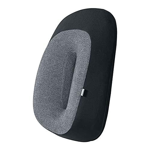 LMMY Almohada de Cintura del reposacabezas del Coche Soporte de Asiento de Espuma de Memoria 3D para el hogar de la Oficina del Cuello del Cuello del Cuello Transpirable Atrás al cojín Lumbar