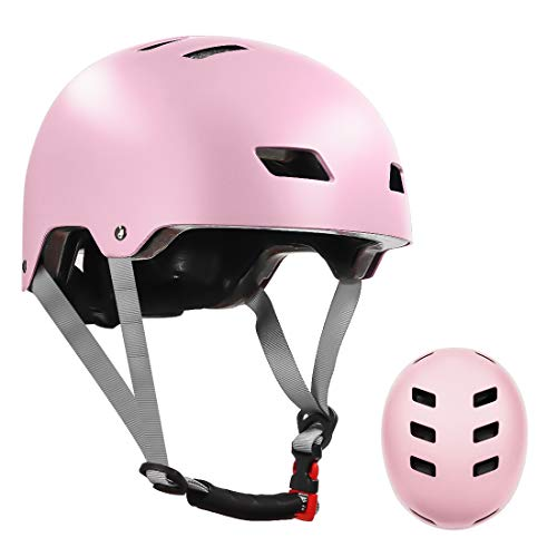 Skateboard Helmet for Kids Youth & Adults with ASTM & CPSC Certified with Two Removable Liners for Multi-Sport Scooter Roller Skate Inline Skating Rollerblading