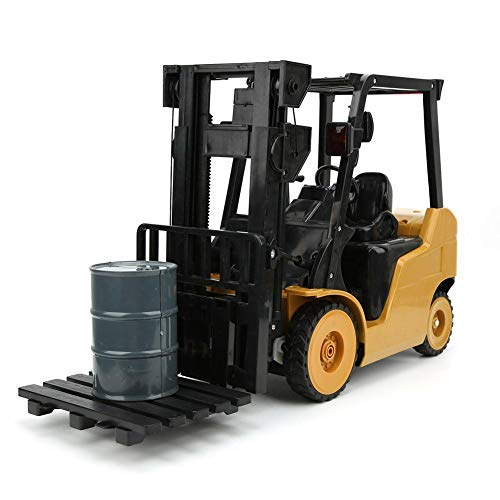 Simulation Forklift Toy,Jadpes 11 Channel Remote Control 1:8 Simulation Forklift Music Crane Car Kids Toy Toys Truck with Rechargeable Battery 2.4Ghz Radio