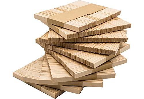 DON PALILLO - 1000 Palos helado de madera (EXTREMO PLANO), 10,5 cm. para manualidades, bricolaje