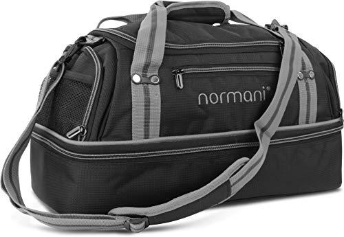 normani Sporttasche 90 | 58 | 28 Liter Reisetasche mit separatem Schmutzwäsche- und Schuhfach Sportlich Schlichtes Design Weekender Farbe 28 Liter Grau