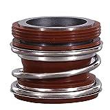 Wnuanjun 1ピースフィットシャフトの直径15-75mm 250℃/腐食レジストのメカニカルウォーターポンプシャフトシールシングルコイルスプリングSiC/WC/VITON (サイズ : 20mm)
