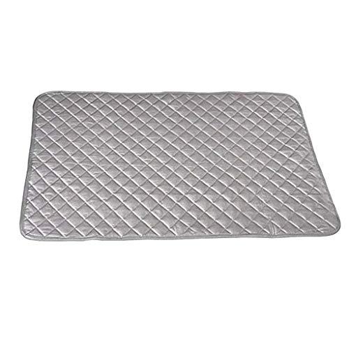 Strijkpads, strijkdeken, hoge temperatuur, dik van hoge kwaliteit, strijkijzer bekleding van katoen, antislip, magnetisch, 48 x 85 cm 48 * 85cm grijs.