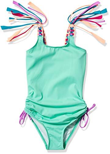 Heart And Harmony Mädchen Over The Shoulder One Piece Swimsuit Einteiliger Badeanzug, Mint/Hombre Sweet Hombre, 38 DE