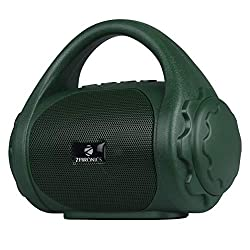 Zebronics Zeb-County Bluetooth Speaker with Built-in FM Radio, Aux Input and Call Function (Green),Zebronics,Zeb-County