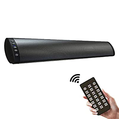 Soundbar, LBPORT PC Soundbar Speaker Wired & Wireless Bluetooth Computer Speakers with Remote Control,USB Home Theater Stereo Sound Bar Desktop Laptop TV Cellphone MP4 [RCA, AUX] by LBPORT
