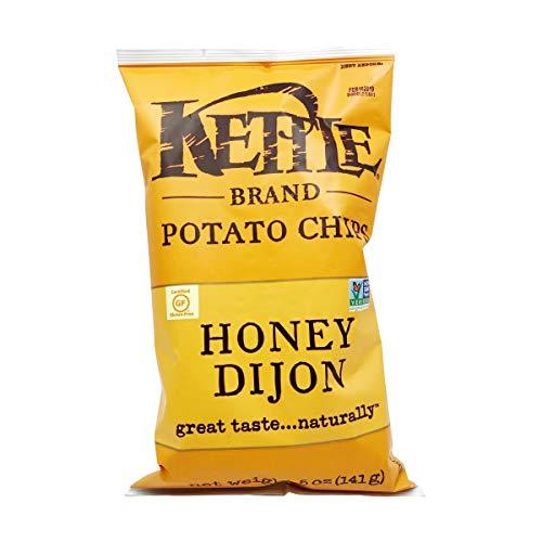 Kettle Brand Potato Chips, Honey Dijon Kettle Chips, 5 Oz