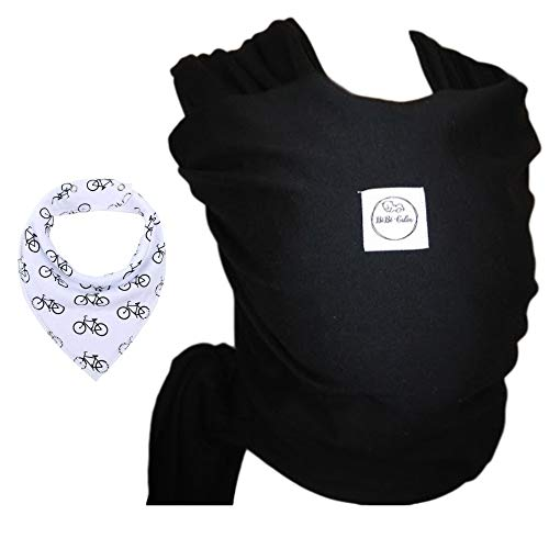 Écharpe de portage BEBE CALIN, Porte-bébé de qualité et multifonctionnel - OFFERT: Bavoir 100%...