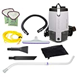 ProTeam Vacuum Backpack, ProVac FS 6 Commercial Backpack Vacuum Cleaner with HEPA Media Filtration and Small Business Kit, 6 Quart, Corded