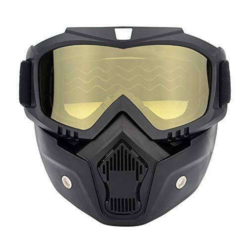 Hanomes Gafas Protectoras Casco Moto Gafas Máscara