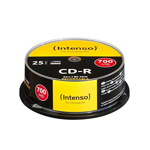 Intenso CD-R Rohlinge 700MB, 52x, Spindel, 25er Cakebox