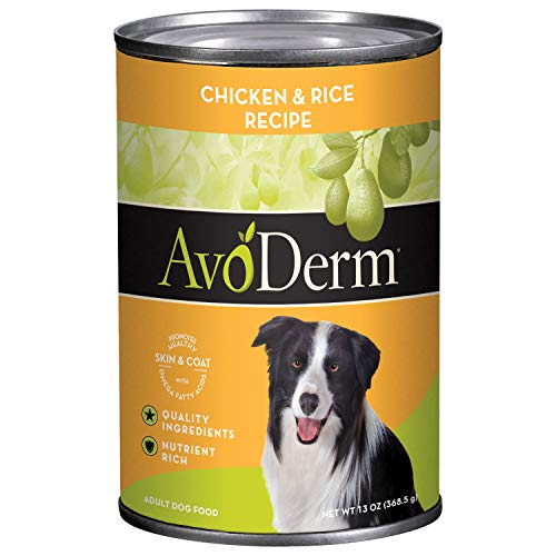 AvoDerm Natural Dry & Wet Dog Food, For Skin & Coat, Chicken & Rice Formula(12 count)