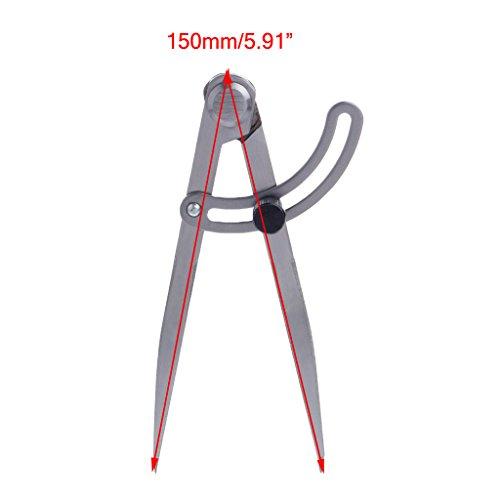 BIlinli 150mm Sperrflügelteiler Entfernte Messlehre Layout Tool Zeichenteiler