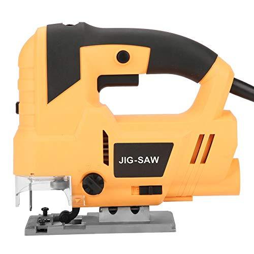 Elektrische decoupeerzaag, 800 W, 6 instelbare snelheden: 0~3000 omw/min, zaagdiepte tot 80 mm, 4-laags, ergonomische handgreep met stofslang.