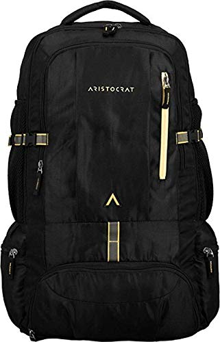Aristocrat 45 Ltrs Men   Women Backpack  Black  Rucksacks   Trekking Backpacks