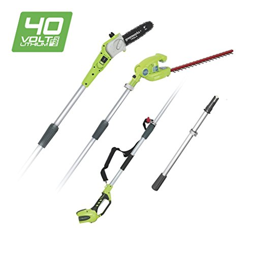 Greenworks Cordless Pruner and Telescopic Hedge Trimmer