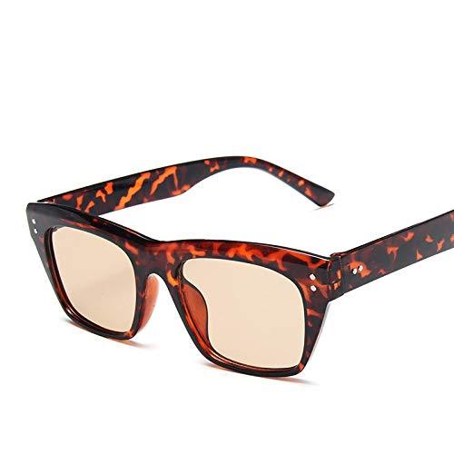 ShSnnwrl Gafas De Moda Gafas De Sol Gafas De Sol De Estilo Deportivo Vintage para Hombre, Gafas De Sol Cuadradas De Conducción Negras para Mujer, Gafas D