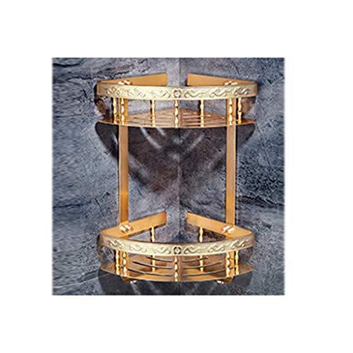 PIVFEDQX Toalleros Estante De Cocina Lixin Espacio De Baño Estante De Aluminio Montaje En Pared Almacenamiento Trípode Perforación Libre Ventosa Ventosa Pared Accesorios De Baño