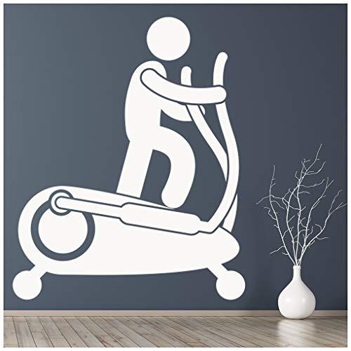 azutura Fitnessstudio Wandtattoo Crosstrainer Wand Sticker Leichtathletik-Fitnessstudio Wohnkultur verfügbar in 5 Größen und 25 Farben Groß Weiß