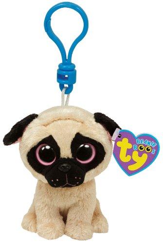 Ty Beanie Boos Pugsly Pug Dog - Clip