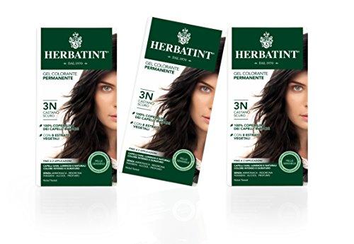 Herbatint Haarfarbe Gel 3N Dunkles Kastanien Braun 3x150ml