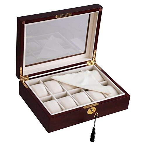 ZHUSHI Madera Protectora Durable Regalos Organizador Caja De Reloj Exhibición Ligero Almacenamiento De Joyas De Moda Portátil Antiarañazos (Color : 12 Grids)