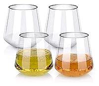 スコッチ、ウイスキー、酒、カクテルのための4,16オンスの澄んだ塑性ワイングラス、粉砕のカップバードリンクウェアのガラスカップセット Jsmhh