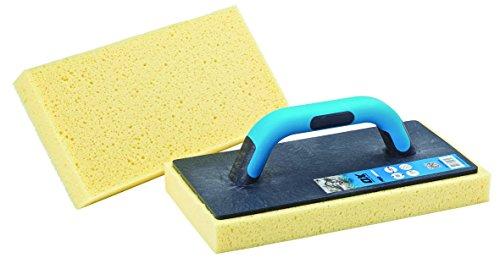 OX Pro Sponge Float - Tile Cleaning Tool - Highly Absorbent Sponge - Plastering Sponge Float – Multi-Colour - 140 x 280 mm