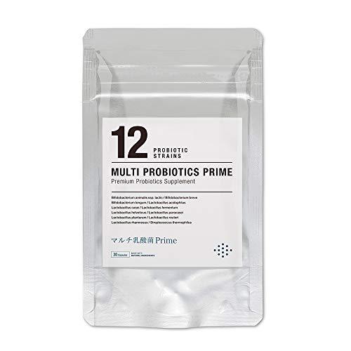 マルチ乳酸菌Prime 30日分 生きる乳酸菌サプリメント 生菌6000億個 12種の乳酸菌 プロバイオティクス