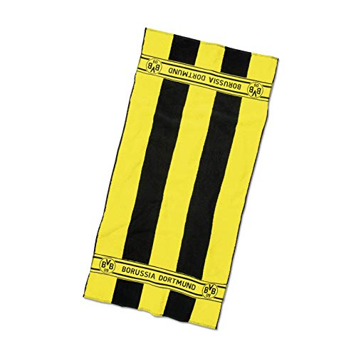 Borussia Dortmund, BVB-Duschtuch mit Blockstreifen, Schwarz / Gelb, 70x140cm
