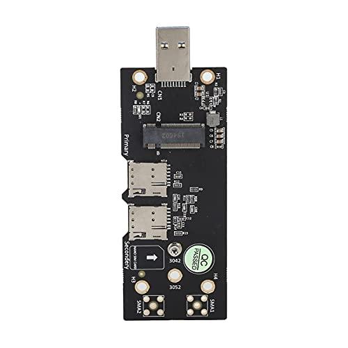 Tarjeta adaptadora M.2 a USB 3.0, Tarjeta de módulo NGFF Key B, módulo 3G / 4G / 5G a Tarjeta Vertical USB 3.0, con Conectores de Empuje de Tarjeta SIM Dual, para computadora de Escritorio portátil