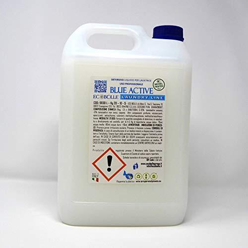 ECOBOLLE Detersivo per Lavatrice Blue Active - Intensa Profumazione, Indicato Per Lavanderie ed uso Professionale (20KG)
