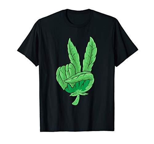 Weed Peace Gras SHIRT Cannabis Blatt Hanf THC Kiffer T-Shirt