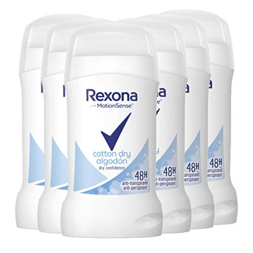 Rexona Women Cotton Dry Deostick, 6er Pack (6 x 40 ml)