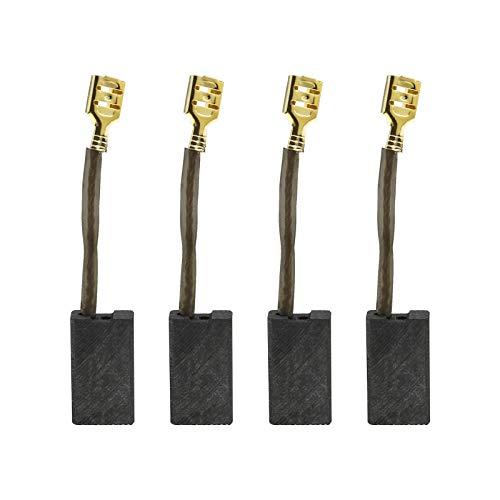 2 pares de escobillas de carbón compatibles con Titan Magnesium Ttb2785sds Ttb278sds Ttb279sds Rb278sds para amoladora de percusión eléctrica