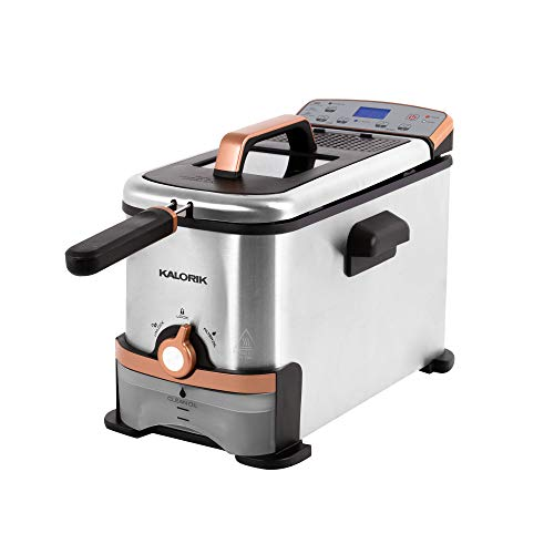 Kalorik 3.2 Qt. Digital Deep Fryer with Oil Filtration, Copper