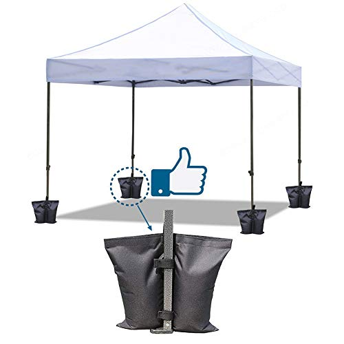 Sdkmah9 4 Pcs Fixed Sandbag Gazebo Industrial Grade Heavy Duty Double-Stitched Sand Weight Bags, Leg Weights for pop-up Awning Tents, Patio Umbrella, Trampolines Weighted Feet Bag