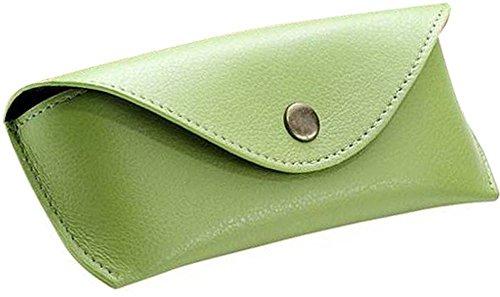 Alassio Brillen - Etui aus echtem Leder, groß, ca. 16 x 7 x 4 cm Taschenorganizer, 16 cm, Grün